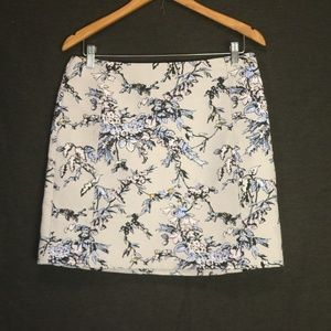 Loft Women's 8 Skirt Floral Straight